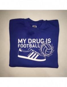 "Sudadera Sin Capucha ""My drug is Football – Zapatilla"""