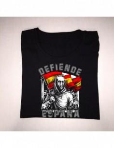 """Camiseta """"Defiende España"""" Chica"""
