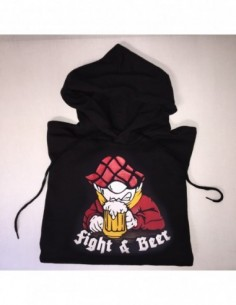 "Sudadera Capucha ""Fight & Beer"" Chico"