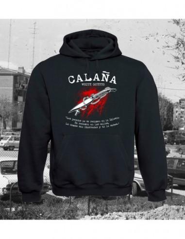 """White Guetto Sudadera Capucha """"Calaña"""""""